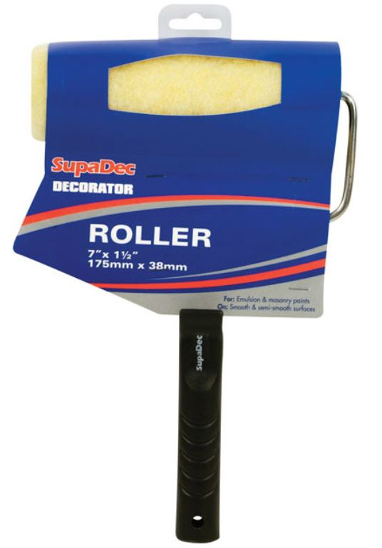 "SupaDec Emulsion Roller 7"" x 1.5"" /175mm x 38mm"