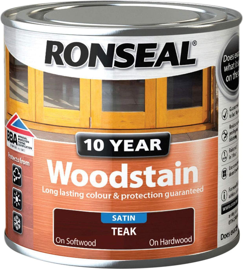 Ronseal 10 Year Woodstain Teak 750ml
