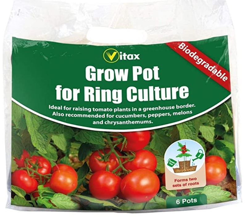 Vitax Grow Pots For Ring Culture Pack of 6