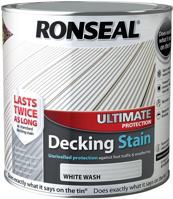 Ronseal Ultimate Decking Stain White Wash 2.5 Litres