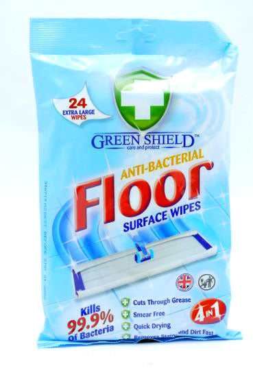 Green Shield Anti-Bacterial Floor Surface Wipes