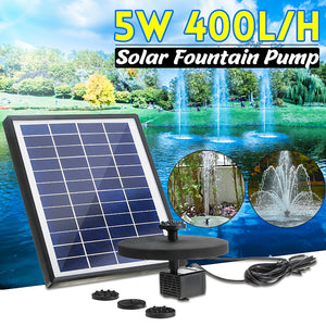New Solar Fountain Solar Water Fountain 400L/H Garden Pool Pond Outdoor Solar Panel Fountain Floating Fountain Garden Decoration - AFH Home Decore