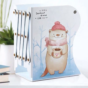 1PC Kawaii Unicorn Metal Desk Book Holder Retractable Bookends Students Desk Organizer Office School Home Bookshelf Stationery - AFH Home Decore
