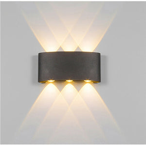 Nordic Style LED Porch Light Waterproof Outdoor 6W 8W LED Wall Lamp for Garden Courtyard Corridor Sconce Lighting Decoration - AFH Home Decore