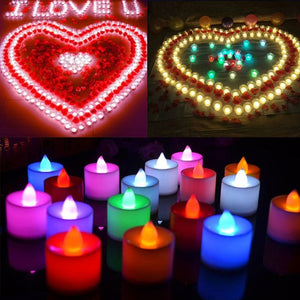 1 PC Creative LED Candle Multicolor Lamp Simulation Color Flame Tea Light Home Wedding Birthday Decoration Drop Shipping - AFH Home Decore