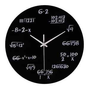 Wall Clock Modern DIY Silent Math Equations Polytechnic Digital Wall Clock Home Office Decor Home Kitchen living room 19AUG20 - AFH Home Decore