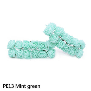 72Pcs/144Pcs Multicolor Mini Foam Rose Artificial Foamiran Flower Wedding Flower Decoration DIY Craft Wreath Gift Supplies - AFH Home Decore