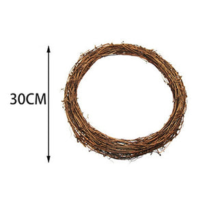 Easter Decoration Wreath Natural Rattan Wreath Garland DIY Crafts Decor For Home Door Grand Tree Wedding Gift Party Ornament