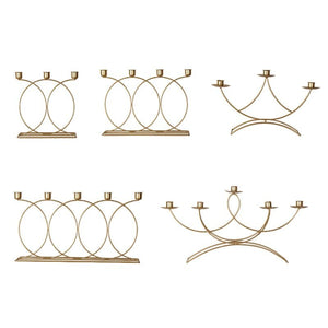 Nordic Style 3D Candlestick Metal Candle Holder Wedding Centerpiece Candelabra Dinner Home Decor - AFH Home Decore