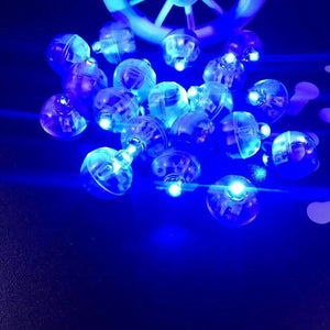 10pcsRound Ball Led Balloon Lights Mini Flash Lamps for Lantern Christmas Wedding Party Decoration Flashlight Balloon Decoration - AFH Home Decore
