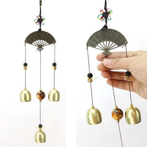 Antique Copper Wind Bells Lucky Fengshui Wind Chime Metal Garden Windchime Hanging Ornament Indoor Outdoor Decoration Wind Chime - AFH Home Decore