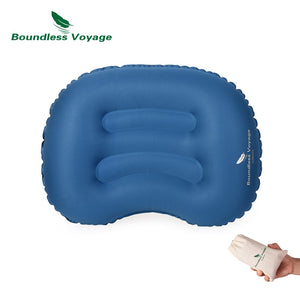 Boundless Voyage Outdoor TPU Inflatable Pillow Camping Travel Back Cushion Lumbar Waist Neck Air Pillow BV1022 - AFH Home Decore
