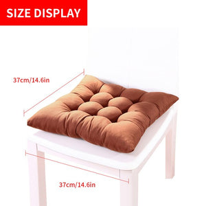 Square Solid Color Chair Pad Thicker Seat Cushion For Dining Patio Home Office Indoor Outdoor Garden Sofa Buttocks Cushion - AFH Home Decore