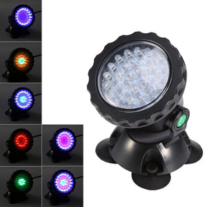 Multi-color 36LED Underwater Spot Light For Water Aquarium Garden Pond Fish Tank Lawn Lights For Outdoor Lighting - AFH Home Decore
