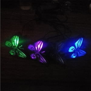 Landscape Colorful Lawn Patio Solar Powered Garden Lamps Led Fence Home Easy Install Butterfly Outdoor Decorative Waterproof - AFH Home Decore