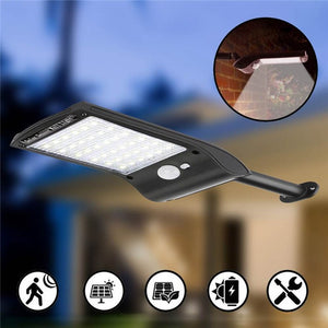 Solar Wall Lights Outdoor Waterproof Security 36 LED Solar Powered Motion Sensor Wall Lamp with Mounting Pole For Garden Pathway - AFH Home Decore
