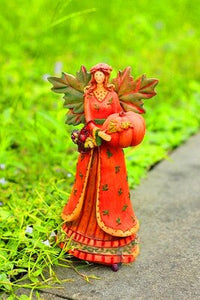 Resin Character Angel Garden Sculpture Harvest Festival Craft Garden Decoration Outdoor American Village Ornament - AFH Home Decore