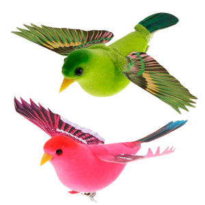 Spreading Winds Artificial Feathered Foam Birds Home Garden Sculptures Wedding Decor Home Garden Decorations - AFH Home Decore