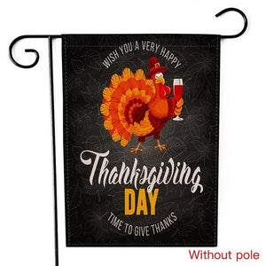 Thanksgiving Day Garden Flags House Decor Mini Yard Flags And Banners Christmas Decorations For Almofadas New - AFH Home Decore