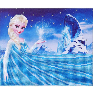 5DFrozen framed diamond painting children's handmade diy production educational toys creative gift party birthday DIY decoration - AFH Home Decore