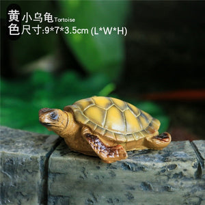 S/M/L Home Garden Ornament Outdoor Yard Garden Tortoise Art Resin Turtle Animal Figurine Statues Decoration Decor - AFH Home Decore