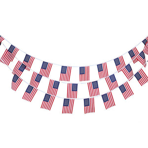 10m 30 pcs American Flag String Bunting Flag Garland Home Garden Decoration - AFH Home Decore