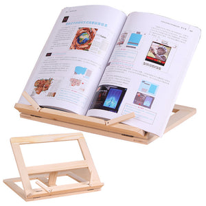 Wooden Frame Reading Bookshelf Bracket Book Reading Bookend Tablet PC Support Music Stand Wood Table Drawing Easel Stationery - AFH Home Decore