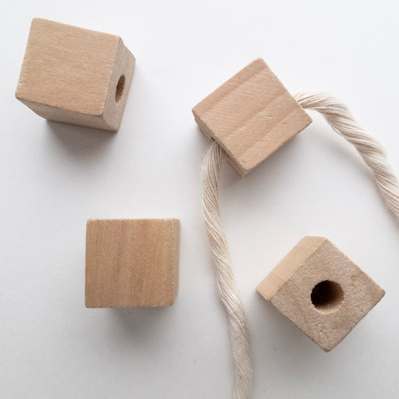 Wooden Square Beads