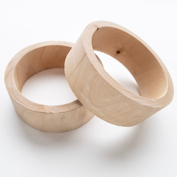 Wooden Wide Flat Bangle