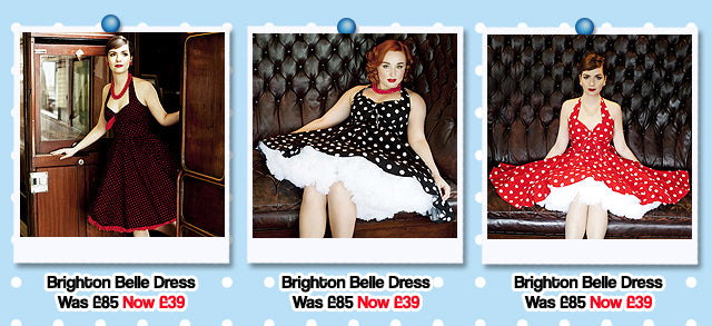 Dollydagger Summer Sale 2016 Polka Dot Halterneck Swing Dresses