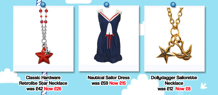 Dollydagger Summer Sale Nautical Clothing and Accessories