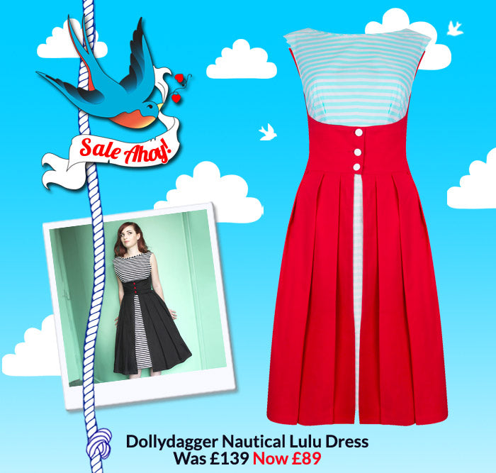 Dollydagger Nautical Lulu Dress Now Reduced