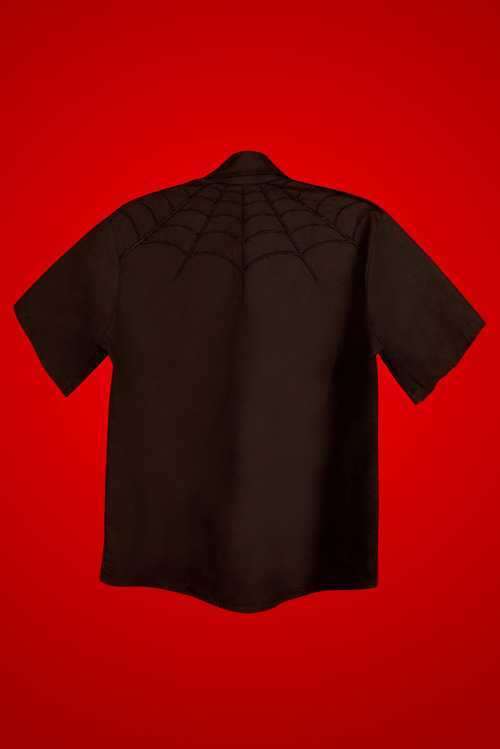 Spiderweb Black Western Shirt