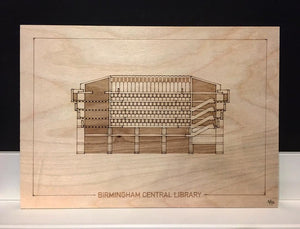 Birmingham Central Library Section Engraving