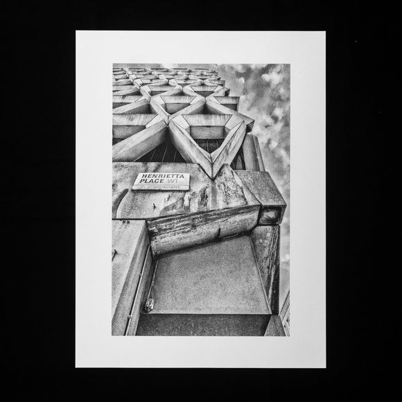 PRINT: Welbeck Street Car Park - Close Up