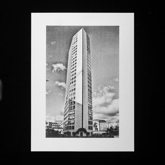 PRINT: Alpha Tower- Side View