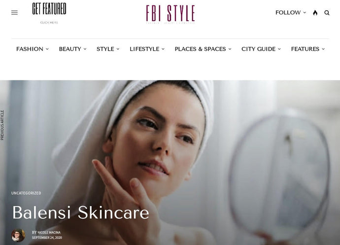 LBalensi skincare feature on FBIStyle.