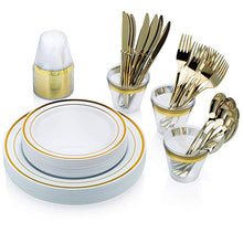 Load image into Gallery viewer, 150 Gold Dinnerware sets