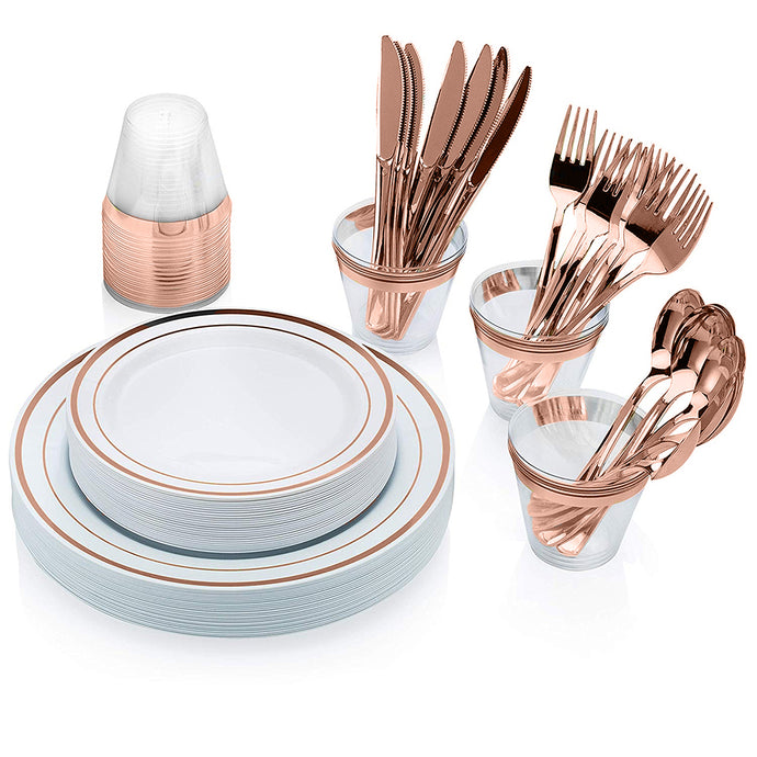 150 Rose Gold Dinnerware sets