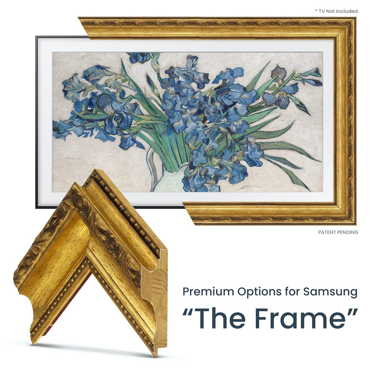 gold samsung frame tv