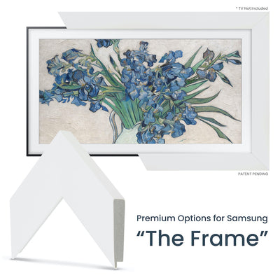 white samsung the frame customizable bezel
