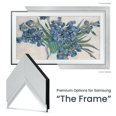 silver samsung the frame tv