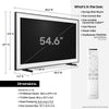 "55"" Samsung The Frame TV Dimensions - 55"" Art TV - 55 inch TV Dimensions"