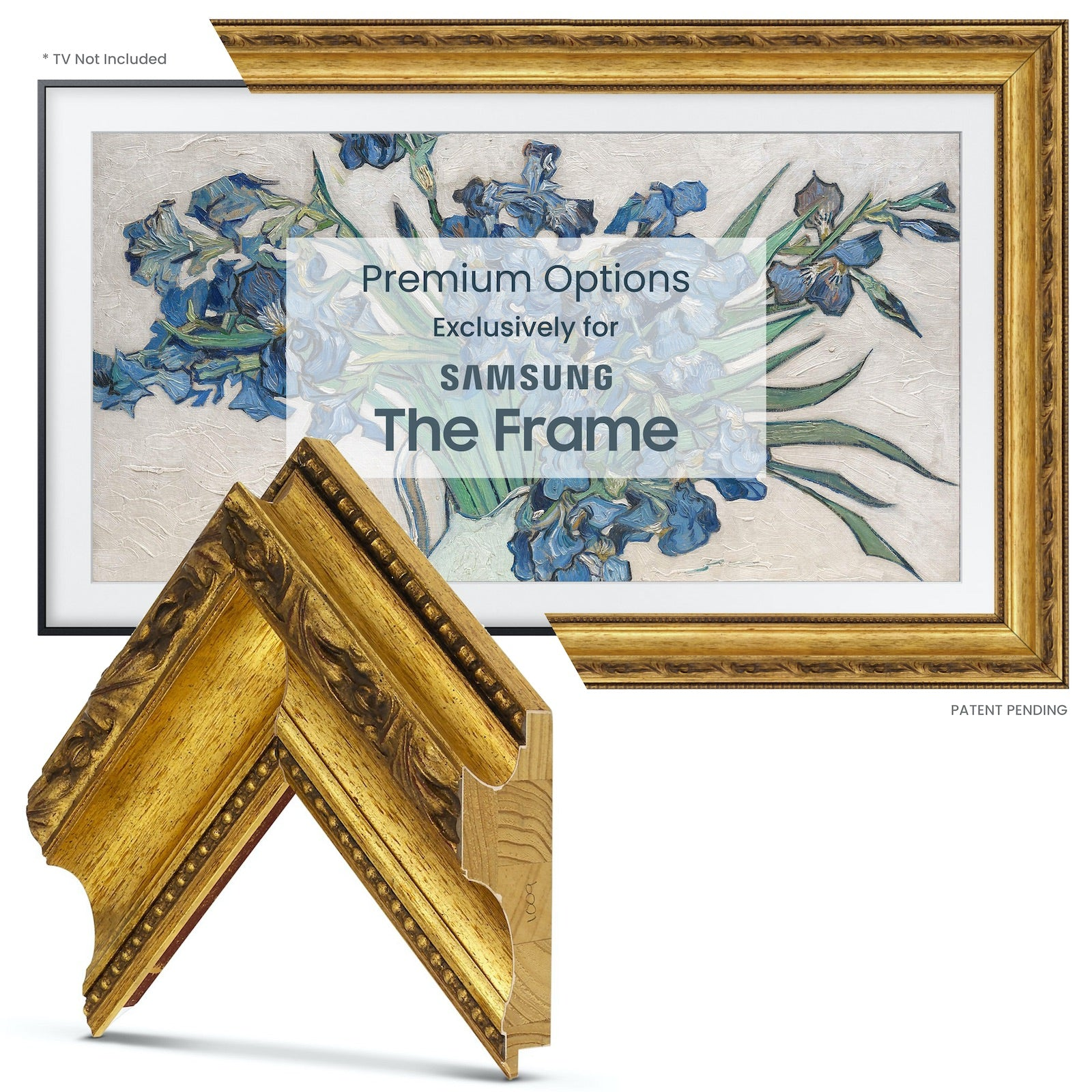 Samsung Frame tv gold bezel