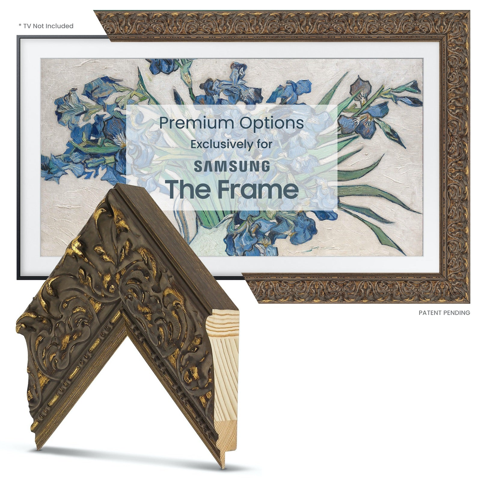 Samsung Frame tv antique gold
