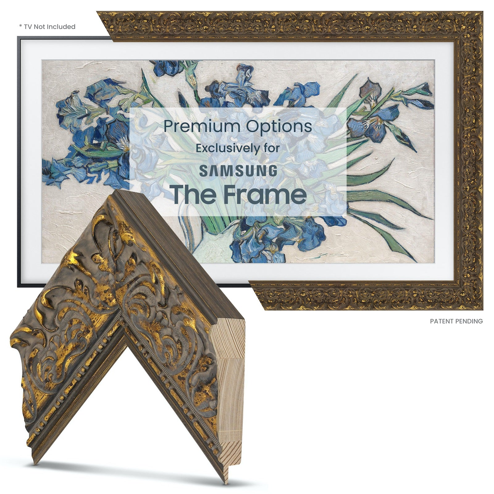 Samsung Frame tv gold