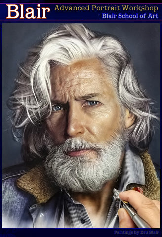 Dru Blair: Airbrush - Male Portrait Masterclass</b><p> Oct 27-31, 2020 </b>