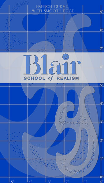 Blair Stencil - Smooth-Edged French curve