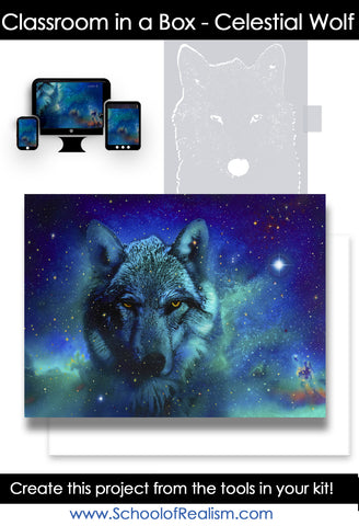 Classroom in a Box: Celestial Wolf kit (No paint or tools)