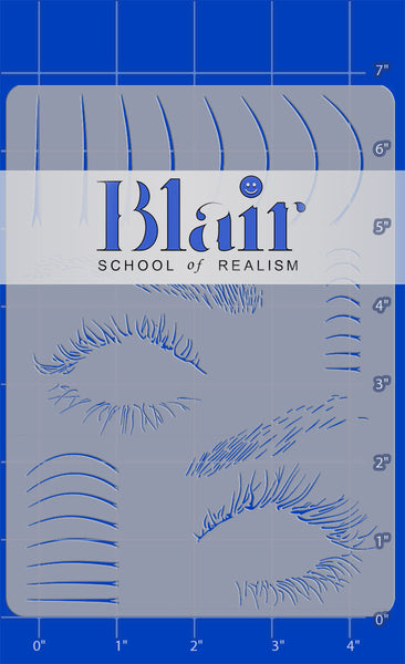 Blair Stencils  - hair & lashes bundle